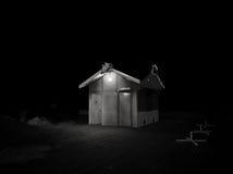 Noc w Pärnu plaży Fotografia Royalty Free