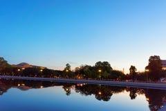 Noc w parku w national mall washington dc zdjęcie royalty free