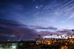 Noc w tropikalnej lokaci Zdjęcia Stock