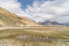 Noc w Zanskar, Leh Ladakh, Jammu i Kaszmir -, India fotografia stock