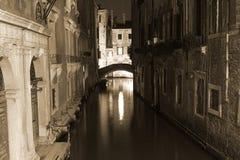 noc Wenecji fotografia stock