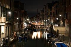 noc Wenecji zdjęcie royalty free