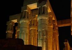 Noc widok Antyczna świątynia w Luxor bez ludzi, Thebes, UNESCO światowego dziedzictwa miejsce, Egipt, afryka pólnocna Zdjęcia Royalty Free