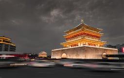 Noc widok bębenu wierza w ` XI., Chiny fotografia royalty free