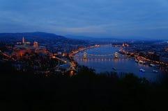 Noc widok Danube rzeka Zdjęcia Stock