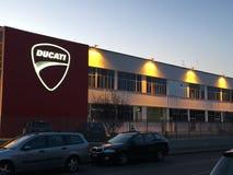 Noc widok Ducati fabryka obraz royalty free