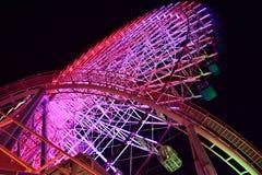 Noc widok Ferris koło park Obraz Royalty Free
