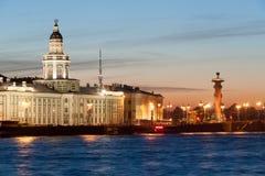 Noc widok gabinet ciekawość w St Petersburg Zdjęcie Royalty Free