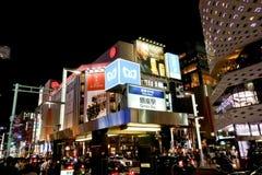 Noc widok Ginza, Tokio Fotografia Stock