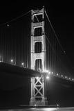 Noc widok Golden Gate Bridge Brać od fortu punktu, San Fransisco Zdjęcie Royalty Free