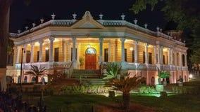 Noc widok Historyczny dom w Merida, Meksyk Obrazy Stock