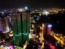 Noc widok Ho Chi Minh, Wietnam Obraz Royalty Free