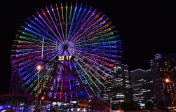 Noc widok iluminacje w Japonia Yokohama Obrazy Stock