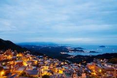 Noc widok Jiufen Tajwan obraz stock