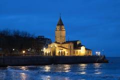 Noc widok kościół San Pedro Zdjęcie Stock