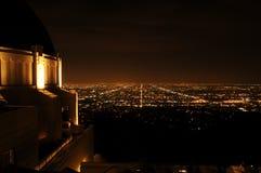 Noc widok Los Angeles Od Griffith parka Zdjęcia Stock