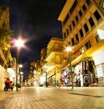 Noc widok miasto Heraklion Obraz Stock
