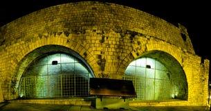 Noc widok miasto Heraklion Fotografia Stock