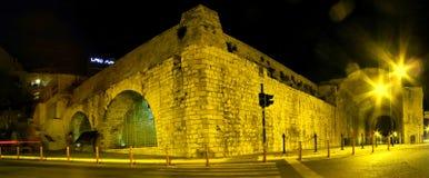 Noc widok miasto Heraklion Zdjęcie Stock