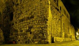 Noc widok miasto Heraklion Zdjęcia Stock