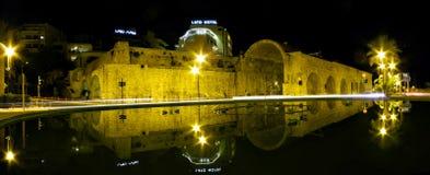 Noc widok miasto Heraklion Obraz Royalty Free