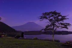 Noc widok Mt Fuji Zdjęcia Royalty Free