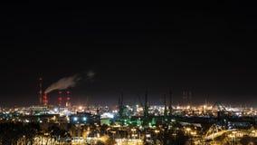 Noc widok na Gdańskiej stoczni Obrazy Royalty Free