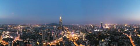 Noc widok Nanjing City centrum zdjęcie royalty free