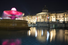 Noc widok national gallery, Londyn Zdjęcia Stock
