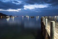 Noc widok od mola ko Tao Zdjęcie Stock