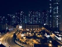 Noc widok od sawanny, Tseung Kwan O zdjęcia stock