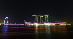 Noc widok ogrodowy Singapore Fotografia Stock