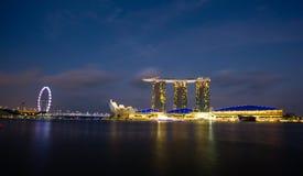Noc widok ogrodowy Singapore Obraz Stock