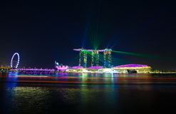 Noc widok ogrodowy Singapore Zdjęcie Royalty Free