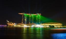 Noc widok ogrodowy Singapore Zdjęcia Stock