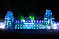 Noc widok pałac Tsaritsyno historii muzeum w Moskwa, Ru zdjęcia royalty free