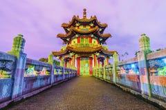 Noc widok pagoda Zdjęcie Stock