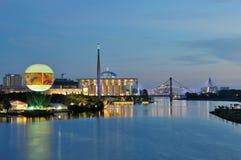 Noc widok Putrajaya pejzaż miejski Zdjęcia Stock