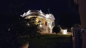 Noc widok Quinta Montes Molina Museum dwór - Merida, Meksyk zdjęcie royalty free