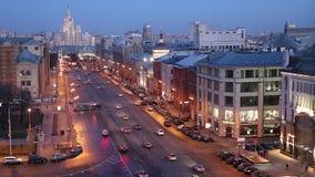 Noc widok Rosja Moskwa od wysokiego punktu, (obserwacja pokład na budynku Środkowy Children sklep) zbiory wideo