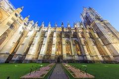 Noc widok sławny opactwo abbey, Londyn, Zlany królewiątko fotografia royalty free
