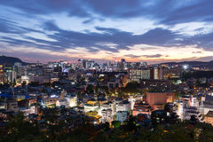 Noc widok Seul miasto, Południowy Korea Fotografia Royalty Free