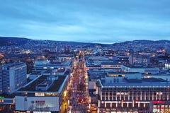 Noc widok Stuttgart Fotografia Royalty Free