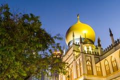 Noc widok sułtanu meczet Zdjęcie Royalty Free