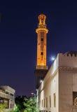 Noc widok ulicy stary Arabski miasto Dubaj UAE Zdjęcie Stock