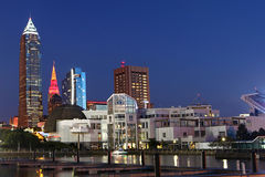 Noc widok w Cleveland, Ohio zdjęcia stock