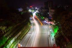 Noc widok Yongzhou antyczny miasto, prowincja hunan, Chiny zdjęcie royalty free