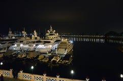 Noc widok złota wybrzeże Hong Kong Obrazy Royalty Free