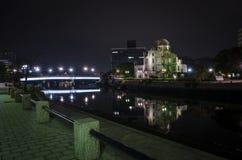 Noc widoku Atomowej bomby kopuła Fotografia Stock