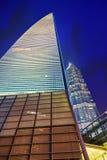 Noc widoku drapacze chmur, miasta Pudong budynek, Szanghaj, Chiny Fotografia Stock